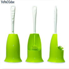 Creative Toilet Brush Bathroom WC Scrub Holder Antibacterial no dead ends Stainless Steel Base Clean toilet cleaning