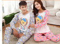 Brand Authumn Lover Pajamas Set Couple Cartoon Animal Print O-neck Sleepwear Women's Long Sleeve Pajamas Sleep Women Pajama Set