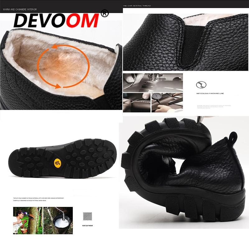 Hiver Chaud Peluche Véritable Marche Noir Cuir De Hommes Homme 42 Fourrure En Mode Artificielle Chaussures D'hiver 2018 Sneakers Mocassins rxwaFnqrR