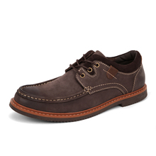 New Plus Size 65 65 Fashion Low Top Cow Leather Outdoor Men Tooling Shoes Handmade Crazy Horse Leather Male Casual Shoes