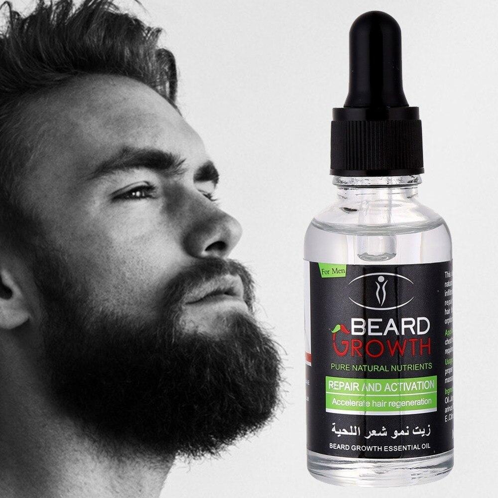 Men Beard Growth Enhancer Oil 100% Natural Organic Beard Wax Balm Products Leave