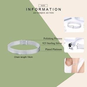 Image 5 - WOSTU Top Quality 925 Sterling Silver Metropolitan Style Bracelets Friendship Bangles For Women Luxury Jewelry CQX001