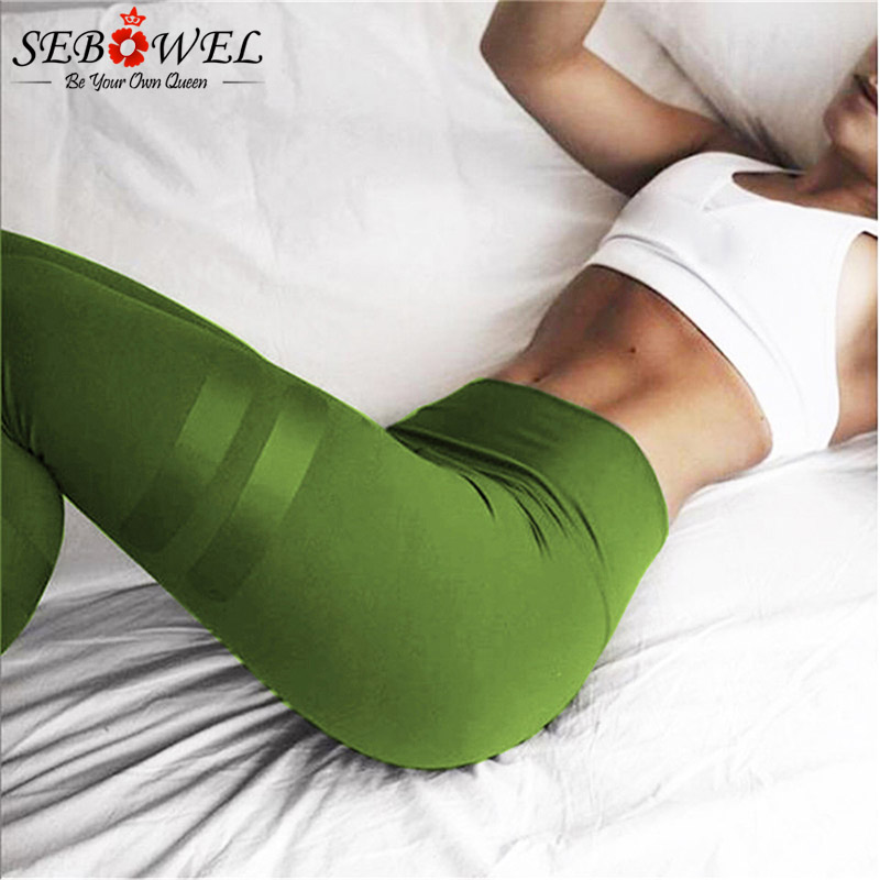 SEBOWEL High Waist Push Hips Yoga Pants Women Print Sport Leggings Fitness Slim Workout Gym Trousers Female Thin Running Tights women sport leggings 3d print football capris running active sportwear high waist pant sexy slim hip fitness jogger gym jeggings