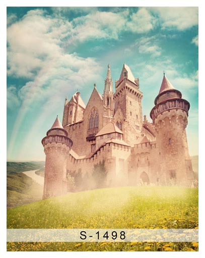 Rainbow sky photography backdrops fancy castle photo background for baby photo studio props background fotografia fancy forest backdrops for photo outdoor shooting photography backgrounds for photo studio photographic background fotografia