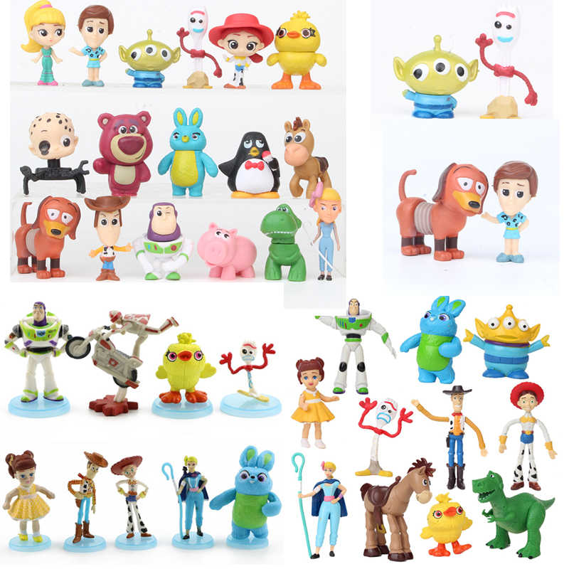 3/7/8/9/10/11/17 stks/set Toy Story 4 Party Figures Buzz lightyear Woody Jessie Lotso Bullseye Paard Action Figure Speelgoed 3-12CM