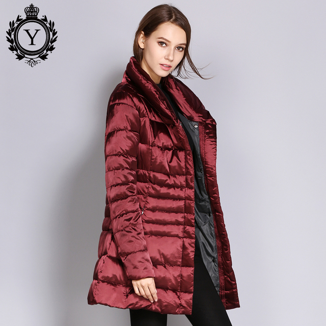 a088c7332 US $36.5 50% OFF|COUTUDI New long parkas Women's Winter Jacket Coat Female  Slim Thick Warm Cotton padded Parka Jacket Ladies outwear parkas -in Parkas  ...