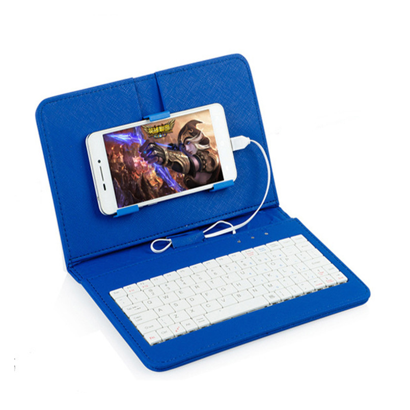 foldable pu leather case micro usb keyboard stand cover mobile phone cover wired keyboard phone. Black Bedroom Furniture Sets. Home Design Ideas