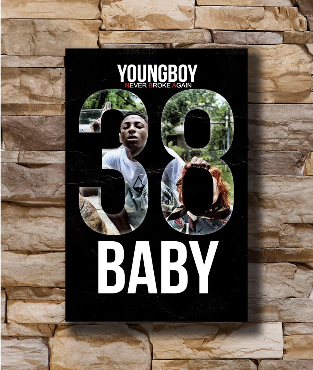 N2289 NBA YoungBoy 38 Baby Rap Music 8x12 20x30 24x36 Silk