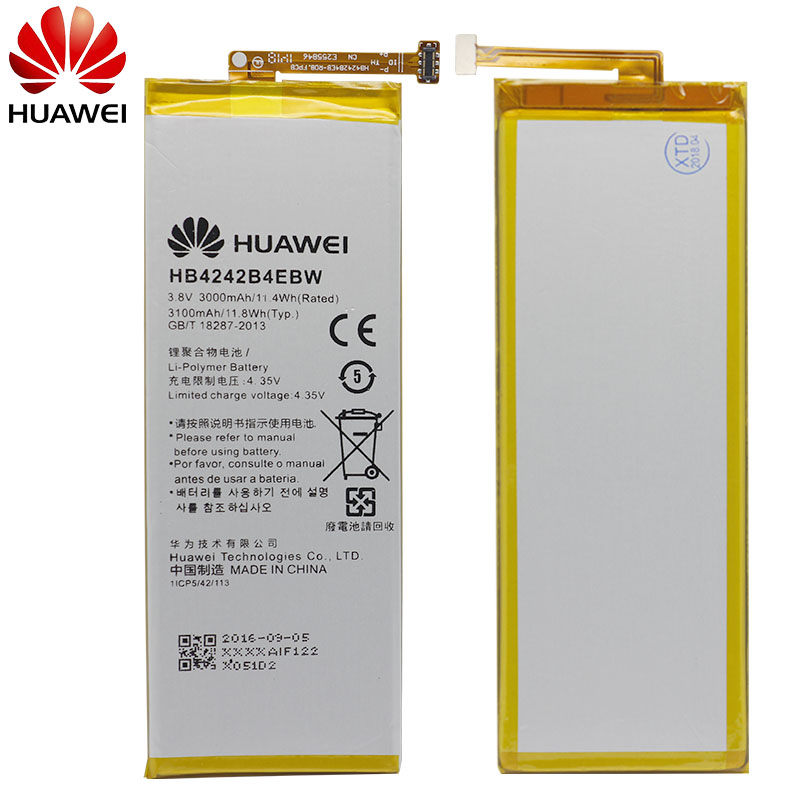 Image 2 - Hua Wei Original Phone Battery HB4242B4EBW For Huawei Honor 6 / Honor 4X / Honor 7i / Shot X ShotX 3000mAh Battery-in Mobile Phone Batteries from Cellphones & Telecommunications