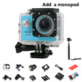 Hot Sale Hero 3 Cam Style 720P Full HD Waterproof Sport Action Cam Mini Camera SJ 4000 Extreme Helmet Sports dv + monopod