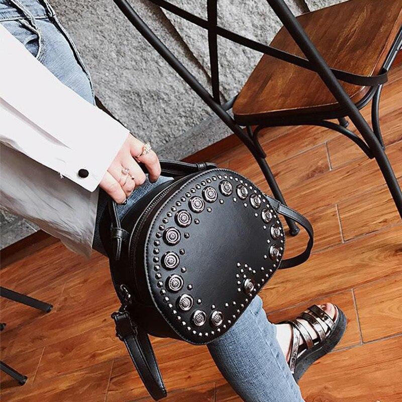 Sinsaut Designer sacs pour femmes sacs à main petits sacs à bandoulière femmes Vintage sacs faits à la main Rivet Messenger sacs à bandoulière 3 couleurs