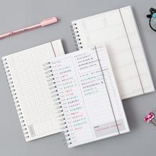 Ежедневный Еженедельный ежемесячный планировщик спиральная А5 записная книжка, органайзер для планирования времени, расписание для школы, офиса, Расписание, стационарное
