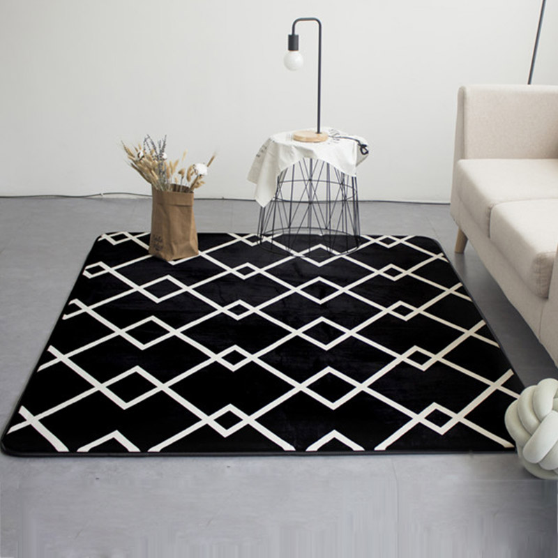Bedroom Carpet Online Toddler Bedroom Door Gate Bedroom Ceiling Design 2017 Elephant Bedroom Decor: Fashion Modern Geometric Lines Black Living Room Bedroom