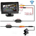 Parking Assist 2.4G Wireless 4.3 Inch TFT LCD Mirror Monitor With Car Rear view camera Reverse LEDs Night Vision Sensor System