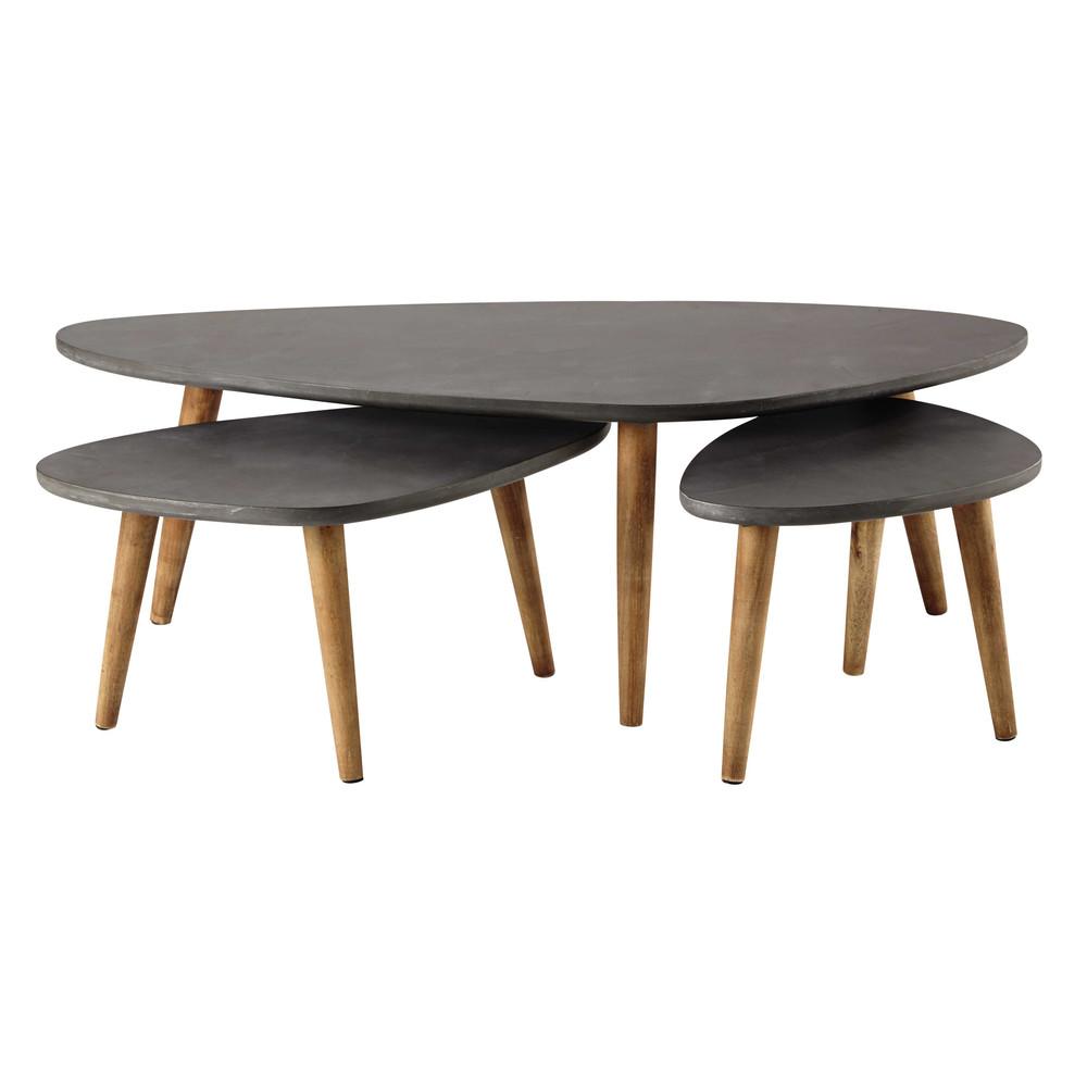 Loft meubles de style moderne table en bois meubles de salon café table jambes en bois