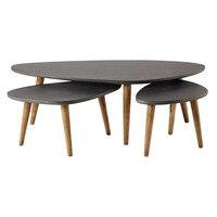Loft Style Furniture Modern Wood Table Living Room Furniture Coffee Table Legs Solid Wood Sofa Side