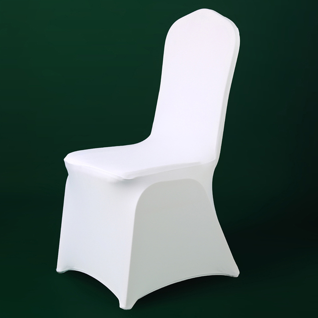 Spandex Chair Covers Cheap Folding Leather 100pcs White Stretch Lycra Cover Christmas Party For Wedding Banquet Dining