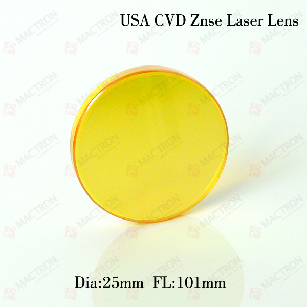 Co2 Laser Lens Diameter 25mm USA ZnSe laser focus length 101mm Focal Length cvd znse co2 laser focus lens with diameter 18mm focus length 38 1mm thickness 2mm