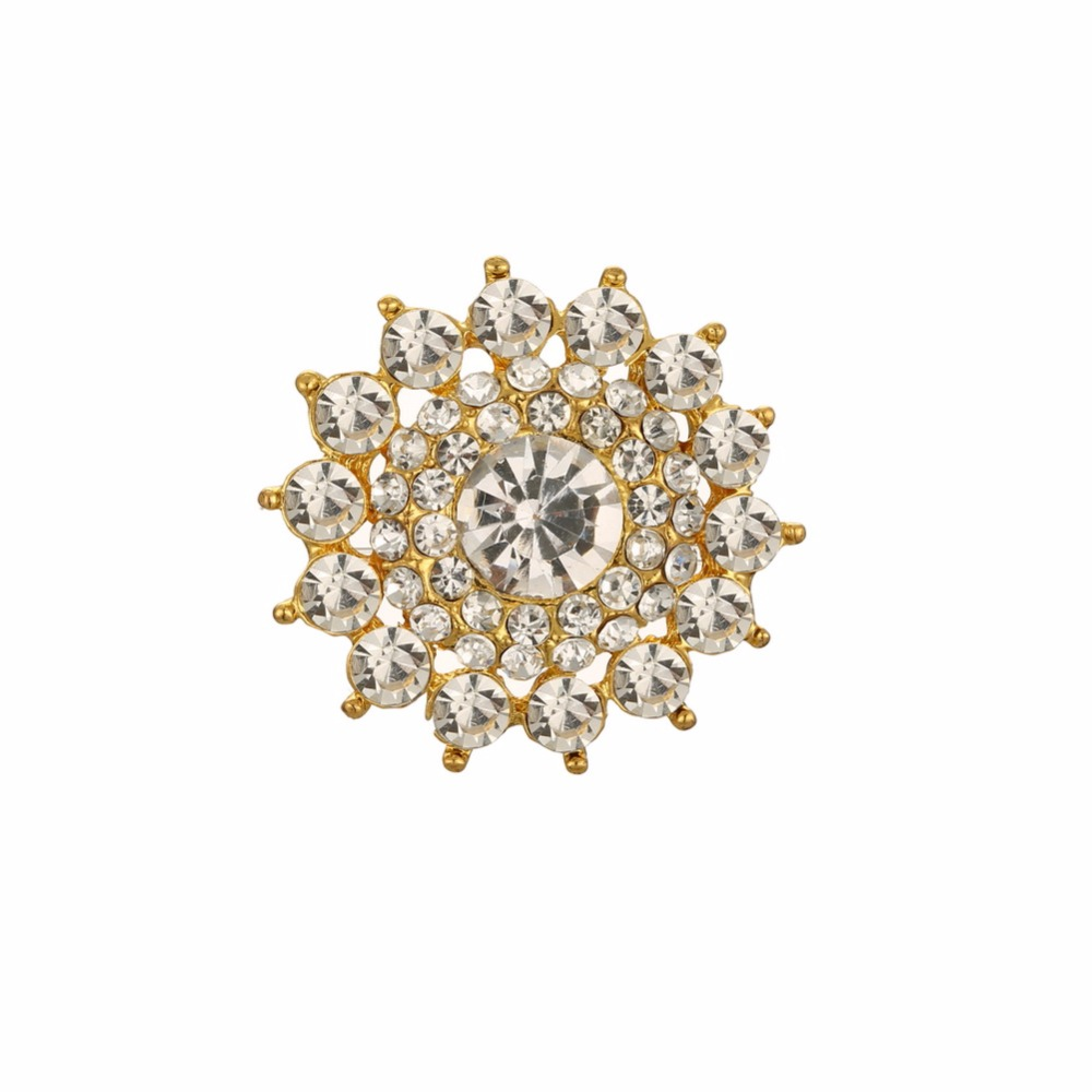 Free shipping shank rhinestone button 50PCS/lot for hair accessary (BTN-5686)