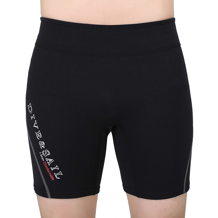 DIVE&SAIL 1.5MM Neoprene Diving Shorts Wetsuit Short Pants For Men Women Winter Swimming Rowing Sailing Surfing Warm Swimwear