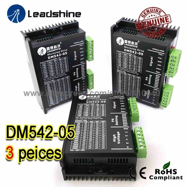 3 Pieces Leadshine DM542-05 1A - 4.2A 20-50VDC for Nema 17 Nema 23 42 57 Stepper Motor 25000 Pulse per rev Free Shipping