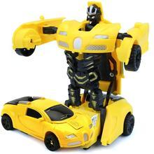 LeadingStar Mini Cartoon Deformation Car Inertial Transformation Robots Toys for Children zk25