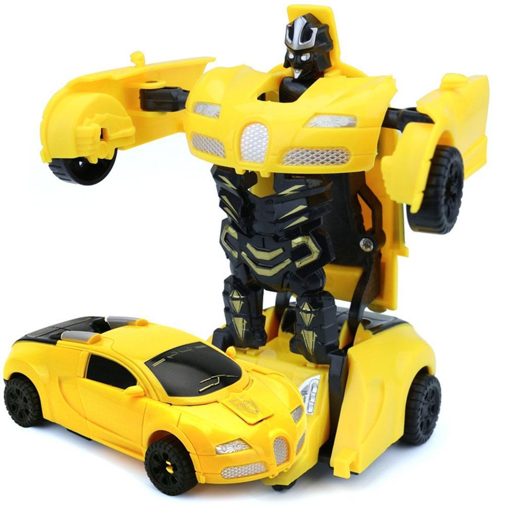 LeadingStar Mini Cartoon Deformation Car Inertial Transformation Robots Toys for Children