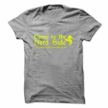 "Very cool ""Come to the Nerd side"" unisex geek t-shirt"