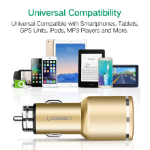 Ugreen QC3.0 USB Dual Car Charger for Smart Phone