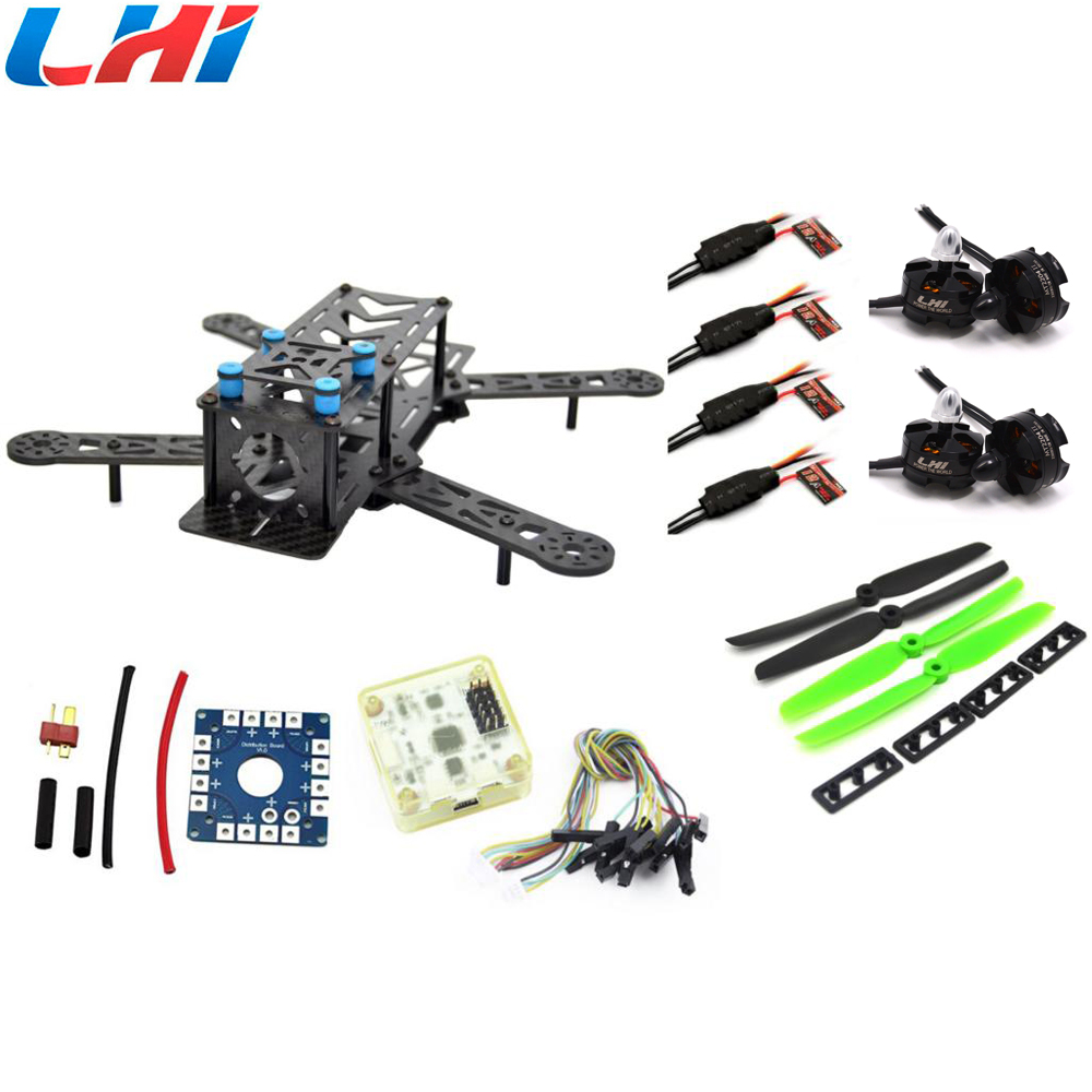 RC plane ZMR 250PRO drone with camera dron fpv drones quadcopter Combo kit motor MT2204, 12A ESC,CF Prop & CC3D EVO quadrocopter fpv arf 210mm pure carbon fiber frame naze32 rev6 6 dof 1900kv littlebee 20a 4050 drone with camera dron fpv drones quadcopter