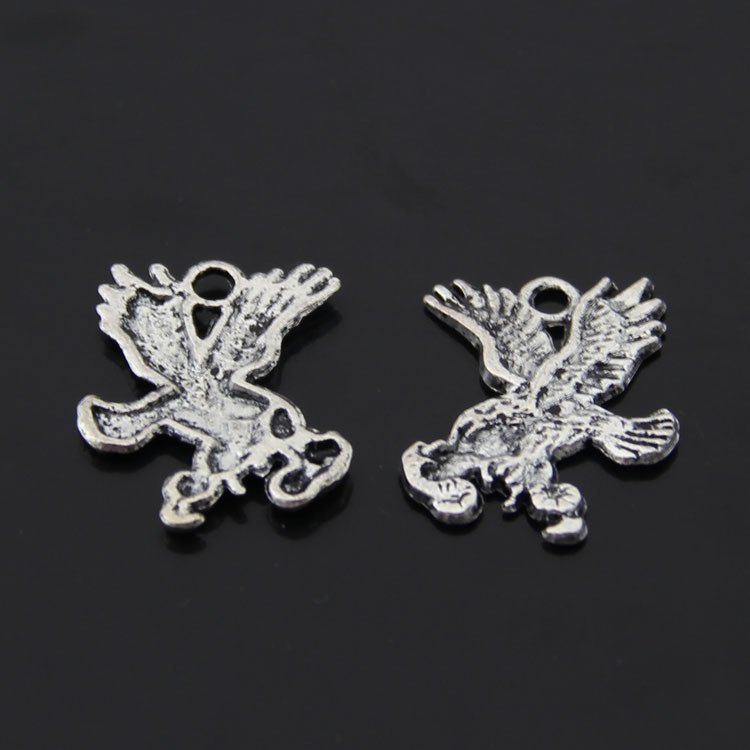 Free Shipping DIY Jewelry Wholesale Silver Charms Component 27*23mm 20Pcs Eagle wings