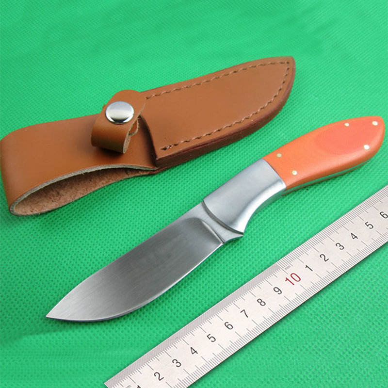 Free shipping with G10 handle fixed blade knife tactical hunting knife font b woodworking b font