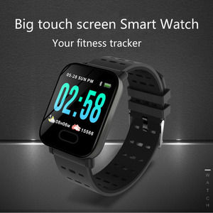 Image 5 - Bluetooth Smart Wristband Big Color Screen touch Smart Watch Blood Pressure Removable Strap Wristband for iOS Android Gifts Hot