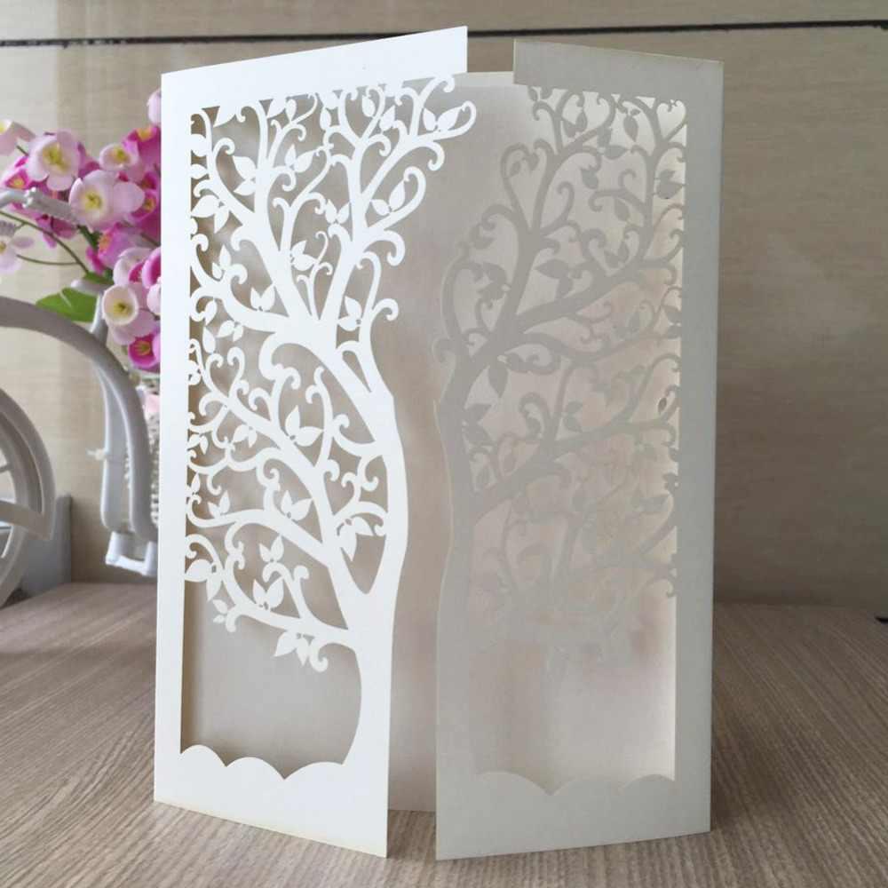 50pcs Lot Hot Sale Chic Tree Design Wedding Party Decoration Paper