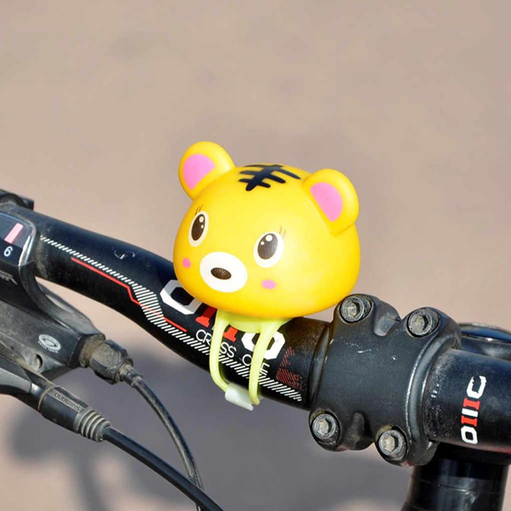 Alta qualidade Dos Desenhos Animados Macaco Porco Cabeça de Luz Brilhando Acessórios de Bicicleta Sinos Bicicleta Guiador Anel Z513 Bonito Portátil À Prova D' Água