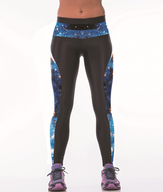 3D galaxy голубое здание женские леггинсы танец юга прикладом подъема брюки дышащий мода