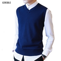 M 3XL Sweater Men Autumn Autumn Sweater Vest Men V Neck 100 Cotton Mens Vest Sweaters