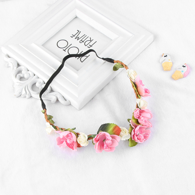 f202c23446e 1PC 2018 New Fashion Bohemia Style Flower Floral Hairband Kids Children  Crown Headband Party Wedding Girls