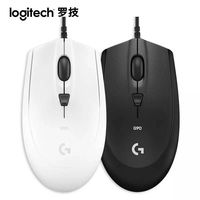 Logitech G90 kablolu oyun fare dizüstü PC Gamer 2500dpi anahtarı USB oyunları fare