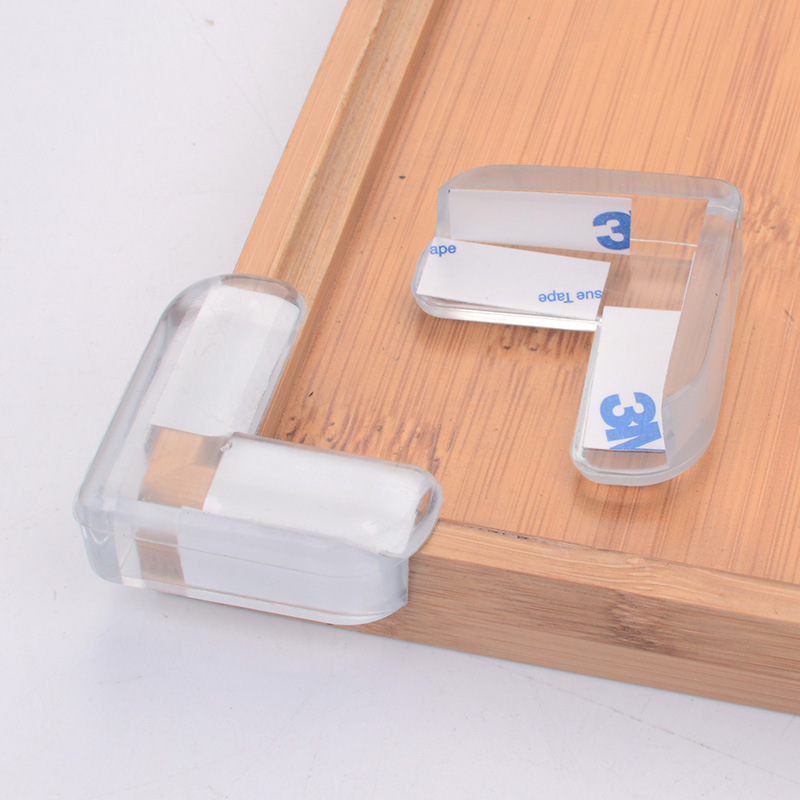 4Pcs Baby Kids Safe Silicone Transparent Table Corner Anticollision Edge Protection Cove ...