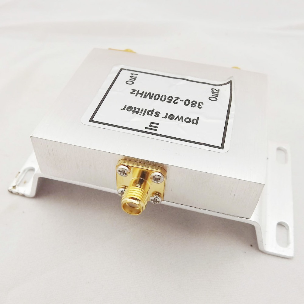 1pc RF Coaxial Coax Power Splitter Divider Combiner SMA Female 2-Way Signal Booster Freq 380-2500MHz 2.5GHZ
