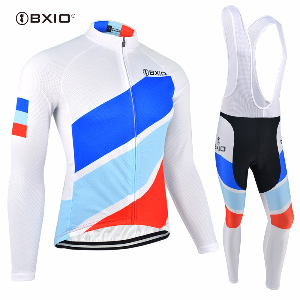 Bxio Winter Thermal Cycling Jersey Sets Quick Dry Sportswear Breathable Mtb Clothing Long Sleeve Bike Jersey For Outdoor Sports крышка стеклянная swiss diamond zz009279