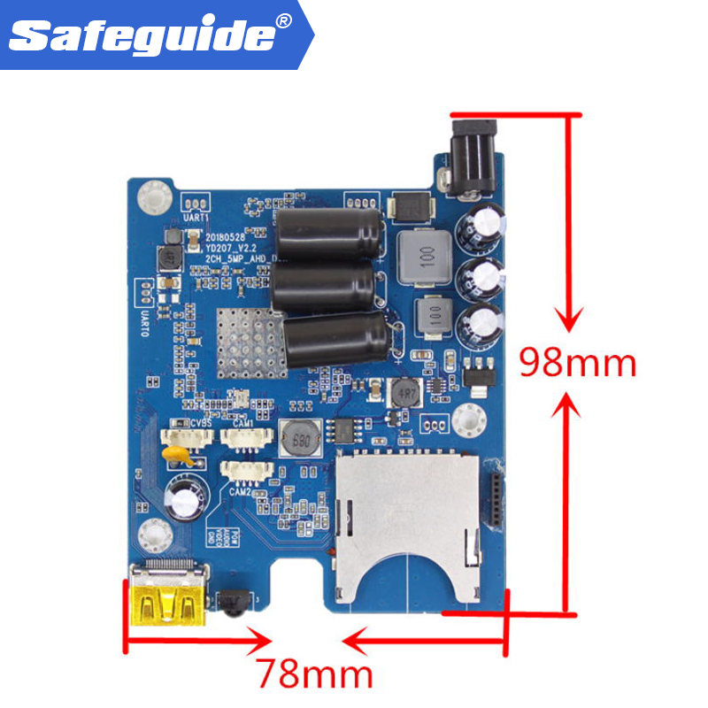 2ch AHD DVR PCB Board HD 1080P Real time 2CH Mobile DVR Module support 128GB sd Card Security Digital Video Recorder mini dvr 2ch dvr car video recorder mobile support 128gb sd dvr