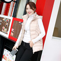 2016 Autumn And Winter Thicken Warm Down Jacket Women's Vest Hooded Sleeveless New Slim Was Thin Wild Coat Fashion Factory
