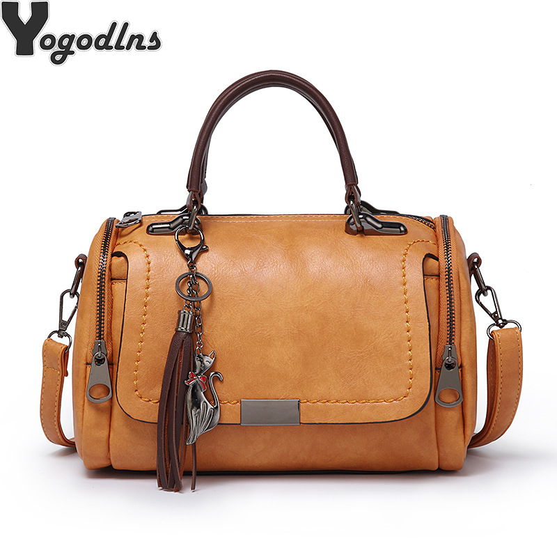 Women Leather Handbags Casual Tote bags Crossbody Bag TOP-handle bag With Tassel andCartoon hanging shoulder bag vintage solid lg watch lg watch w150 urbane silver