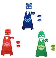 2017 NEUE 3 packs PJmasks Inspiriert Kostüm Cape; maske + 6 stücke Party Dekoration Harz Geburtstagsfeier Für Kinder Armband Armband