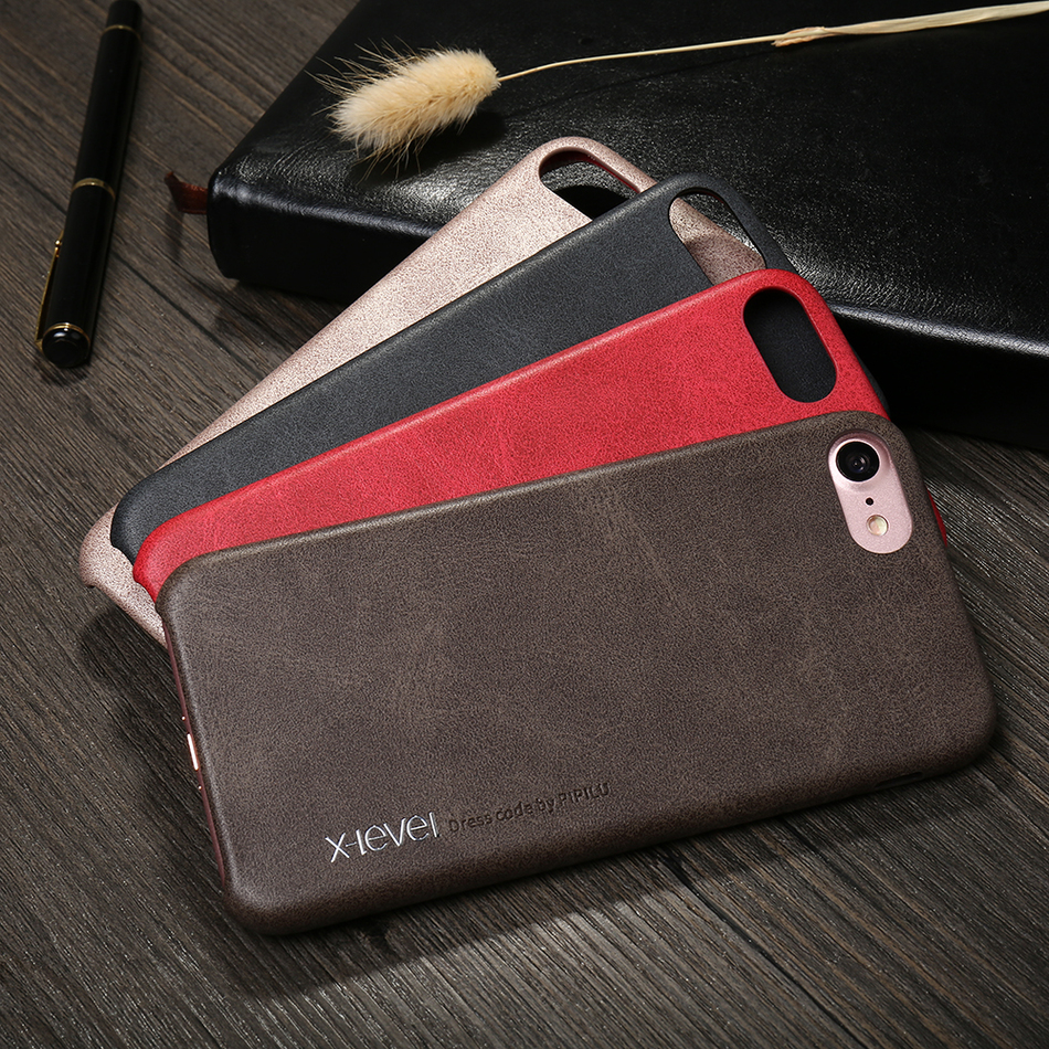 X-Level Vintage Leather Case For Apple IPhone 8 / 8 Plus