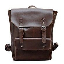 Мужской и женский кожаный рюкзак Crazy horse, многофункциональный винтажный школьный рюкзак для мальчиков подростков, дорожная сумка для ноутбука, 2019