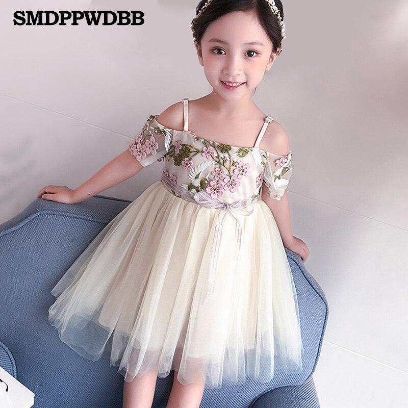Платье с цветочным узором для девочек; платье для свадебной вечеринки; детское розовое платье подружки невесты; платье принцессы; бальное п