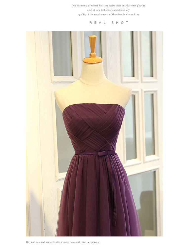 SOCCI Weekend Strapless Purple Long Evening Dress Charming Tulle Burgundy Evening Gown Formal Wedding Reception Vestido de Longo 9